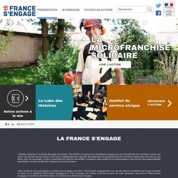 La France s'engage – Accueil
