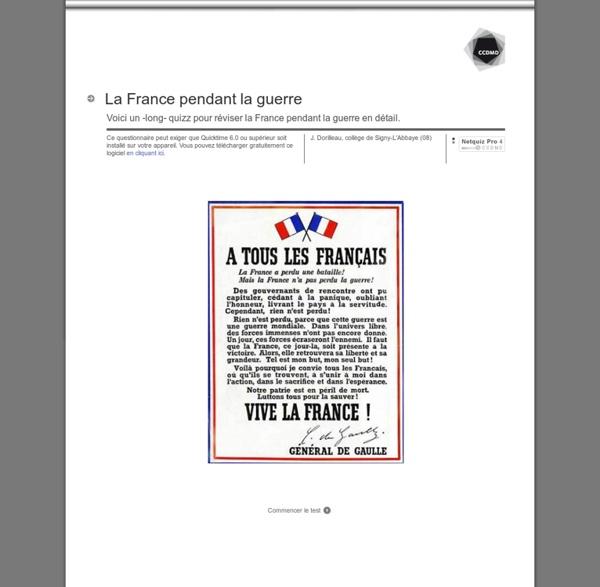 La France pendant la guerre