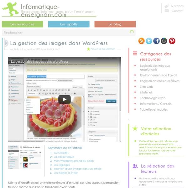 La gestion des images dans WordPress