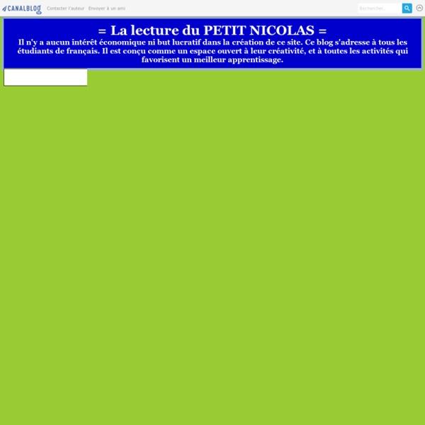 = La lecture du PETIT NICOLAS =