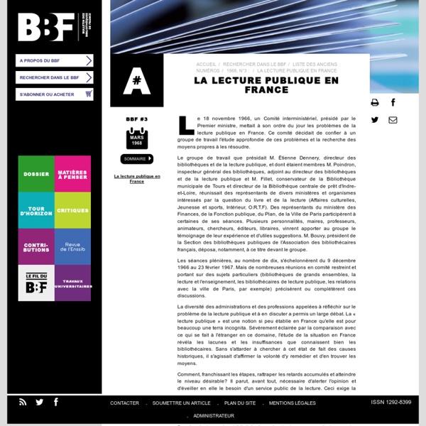 La lecture publique en France
