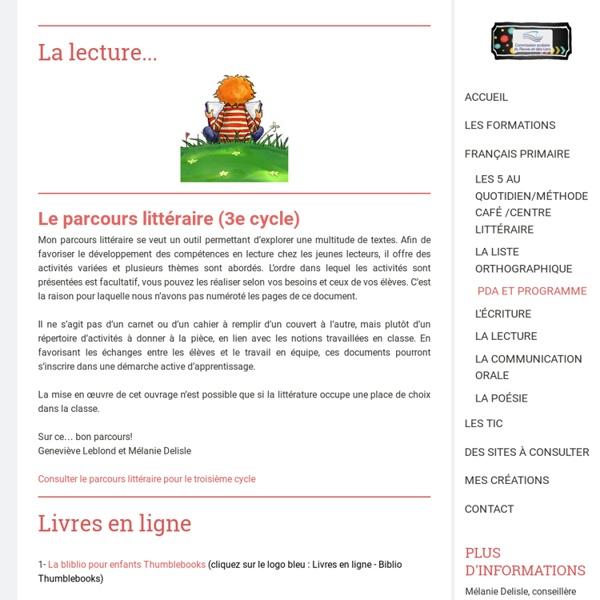 La lecture - Site de espacecp !