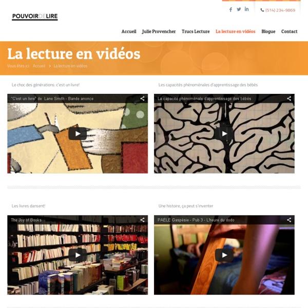 La lecture en vidéos