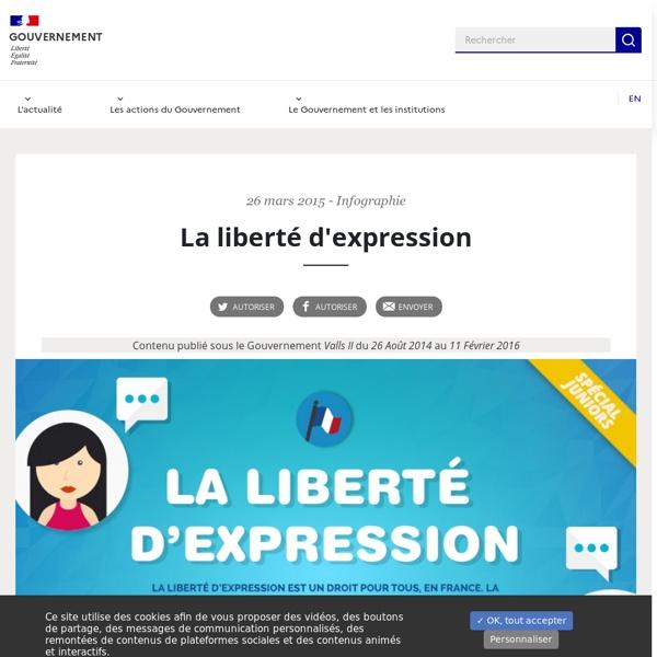 Infographie sur la liberté d'expression