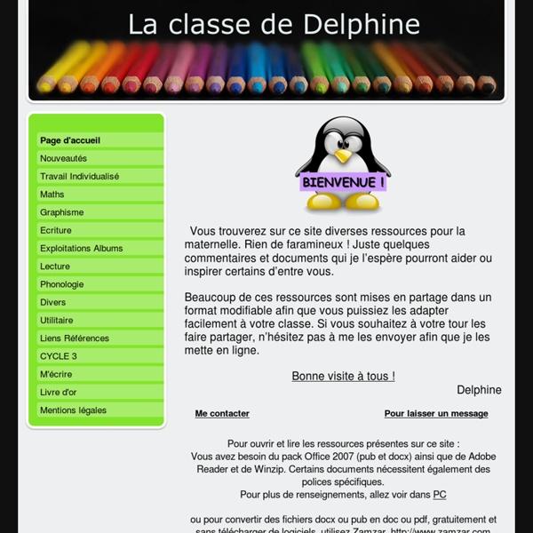 La maternelle de delphine - laclassededelphines jimdo page!