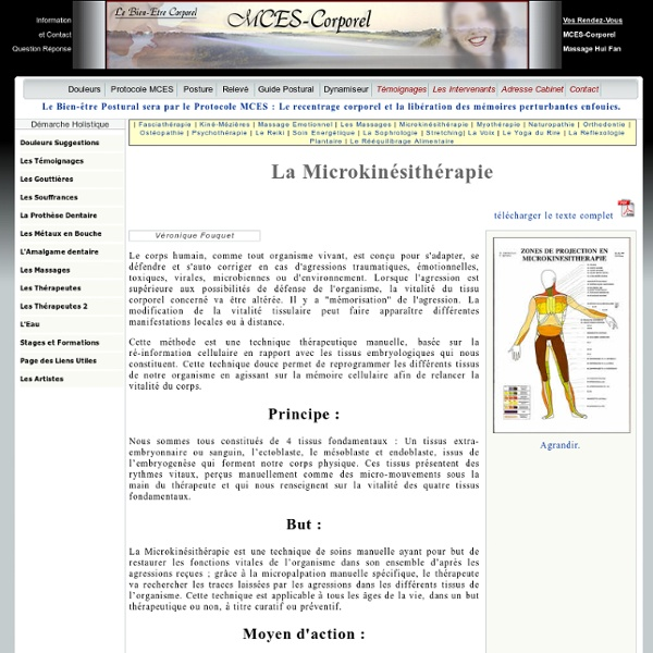 La Microkinésithérapie