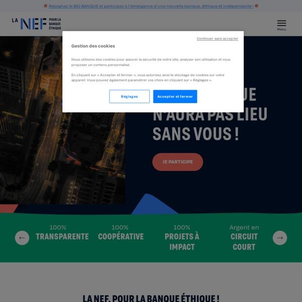 La Nef .: Accueil :. Votre partenaire financier pour une économie plus humaine