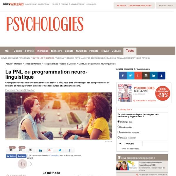 La PNL ou programmation neuro-linguistique