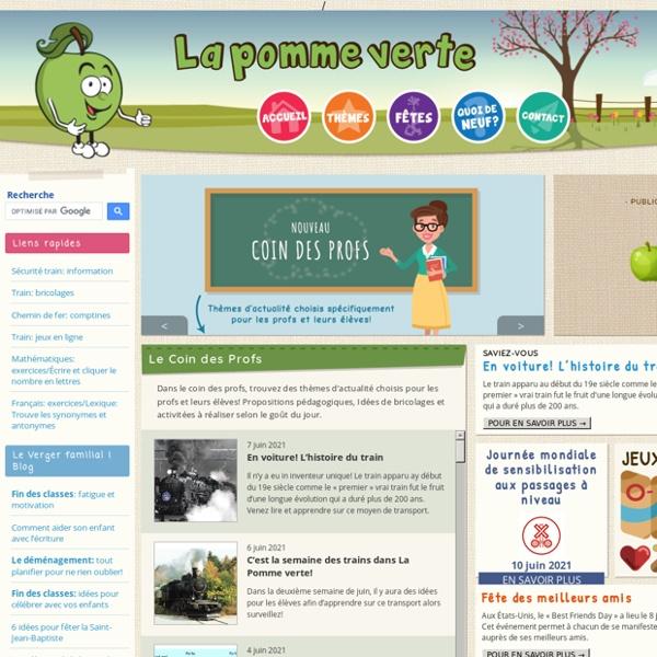 La pomme verte : Page d'accueil