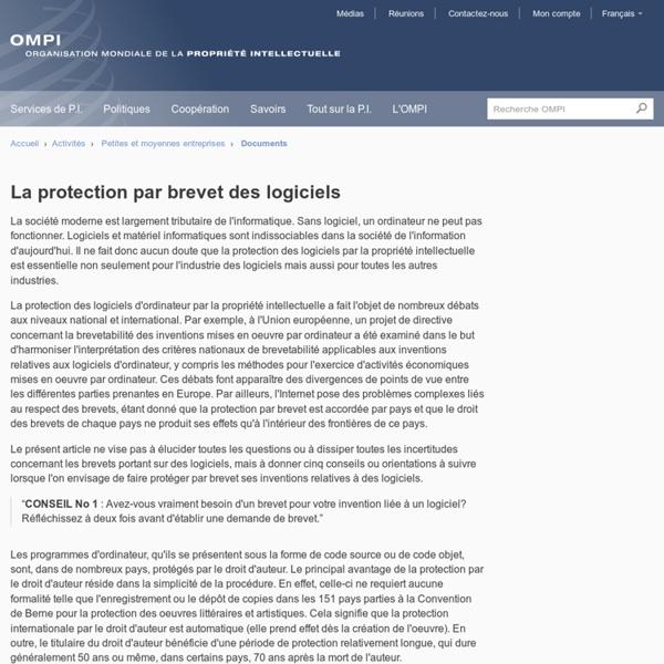 La protection par brevet des logiciels