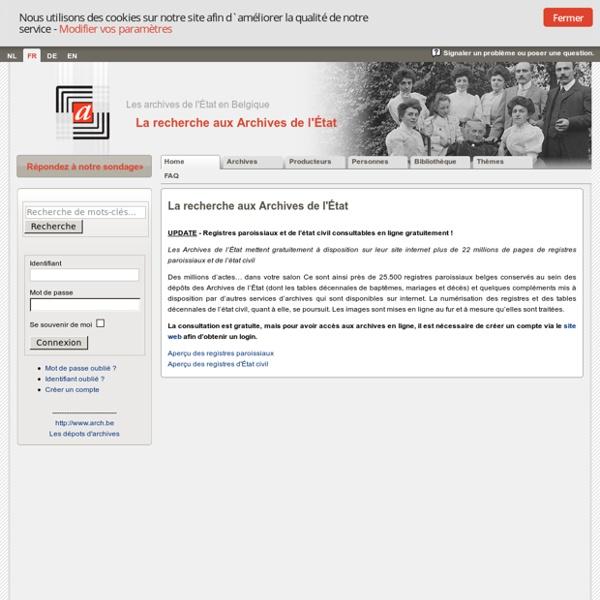 La recherche aux Archives de l'État