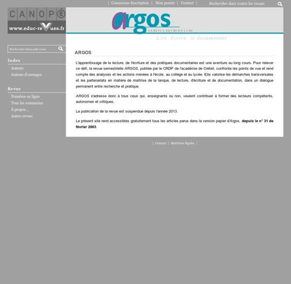 Argos, le revue des BCD et des CDI