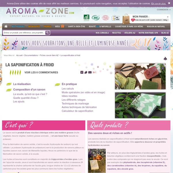 Fiche pratique Aroma-Zone : la saponification à froid