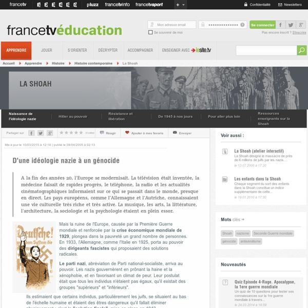DOSSIER SHOAH Francetveducation