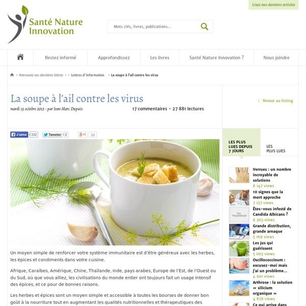 La soupe à l'ail contre les virus