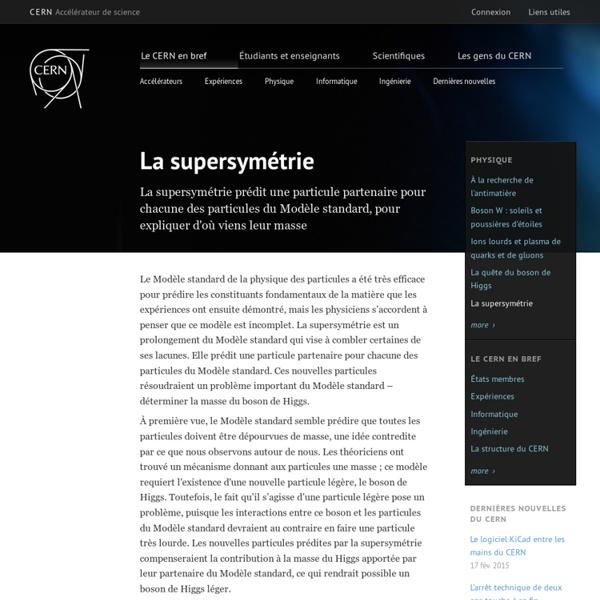 La supersymétrie