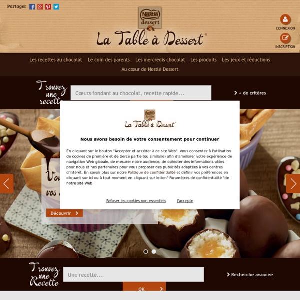 Nestlé Dessert : la table à dessert