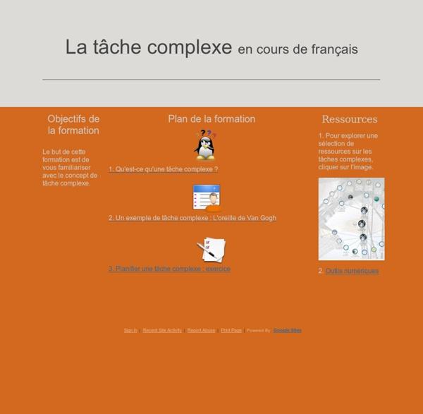 La tâche complexe en français