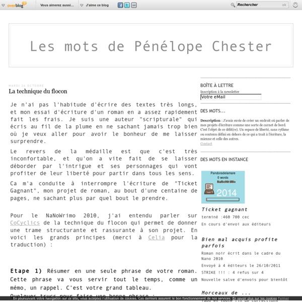 La technique du flocon - Le blog de lesmotsdePenelopeChester.over-blog.com