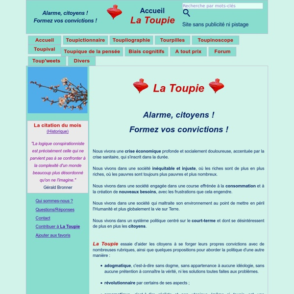 La Toupie : Accueil