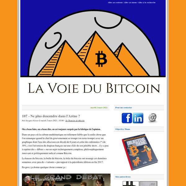 Blog d'un historien de formation passionné par les monnaies parallèles qui nous suggère énormément de chroniques concernant le sujet des crypto-monnaies avec des liens vers d'autres sites, des rubriques et des communiqués.