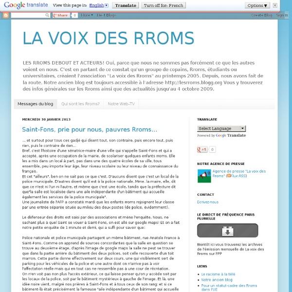 LA VOIX DES RROMS