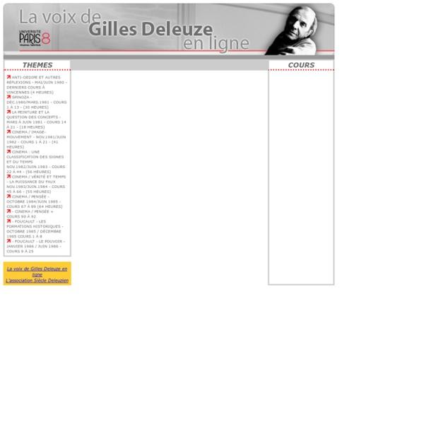 La voix de Gilles Deleuze
