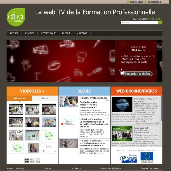 La Web TV de l'Afpa