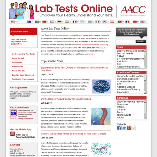 Lab Tests Online: Welcome!