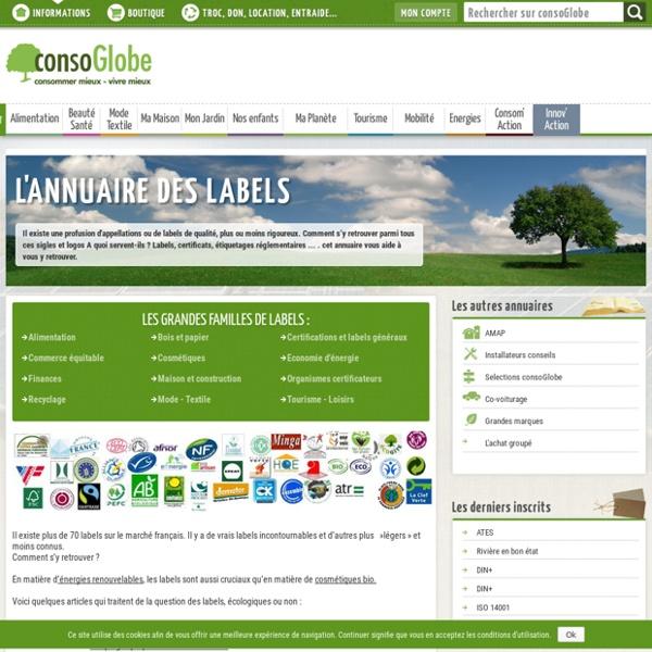 Labels : Les labels sont sur consoGlobe