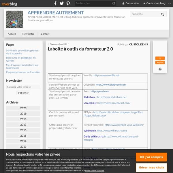 Laboîte à outils du formateur 2.0