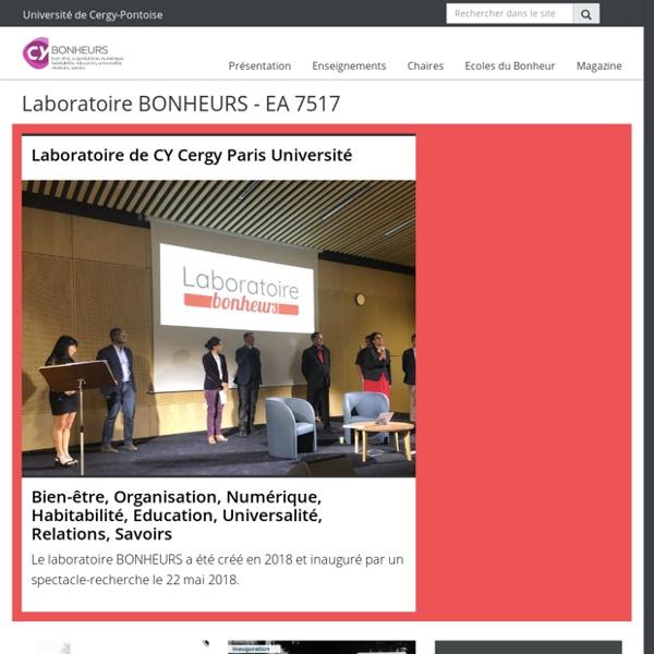 Laboratoire BONHEURS - EA 7517