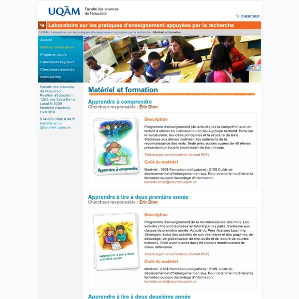 Laboratoire sur les pratiques d'enseignement appuyées par la recherche