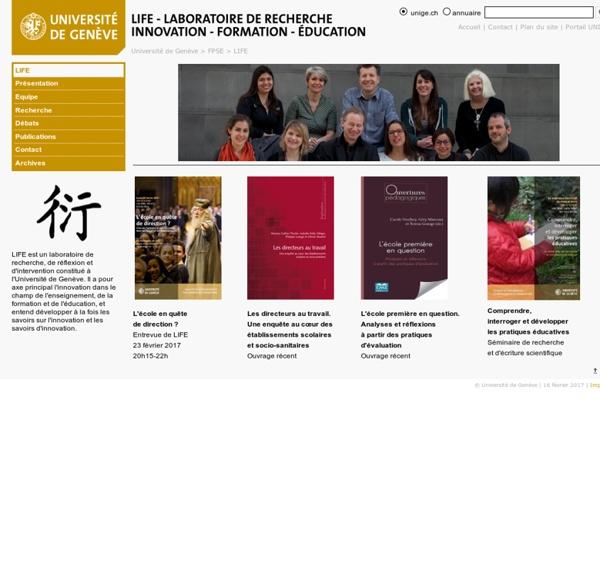 LIFE - Laboratoire Innovation - Formation - Education