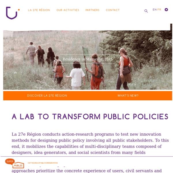 UN LABORATOIRE POUR TRANSFORMER LES POLITIQUES PUBLIQUES