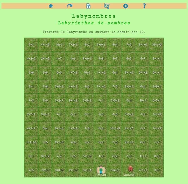 Labynombres : labyrinthes de nombres