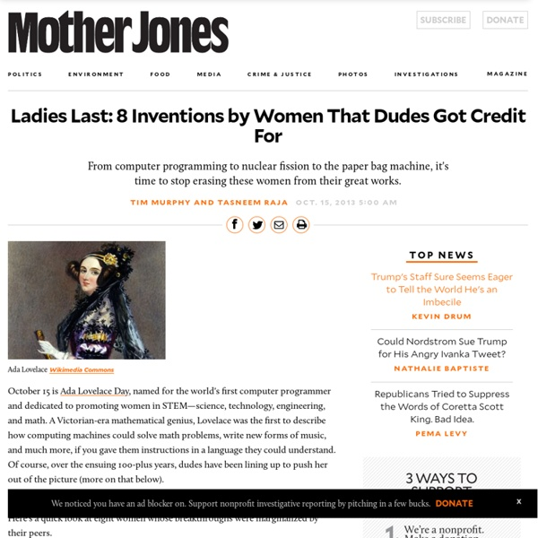 Ladies Last: 8 Inventions by Women That Dudes Got Credit For