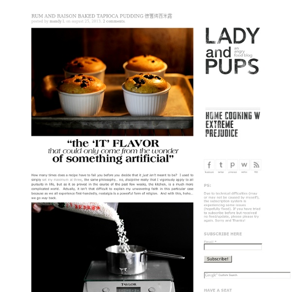 Lady and Pups – an angry food blog