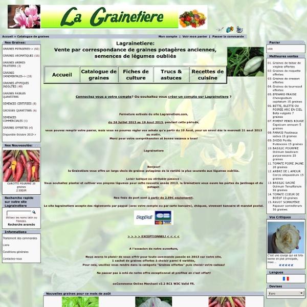 Graines semences potageres anciennes, legumes oublies, semences ornementales rares