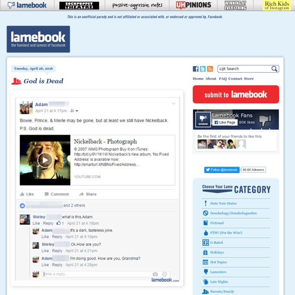 Lamebook – Funny Facebook Statuses, Fails, LOLs and More – The Original