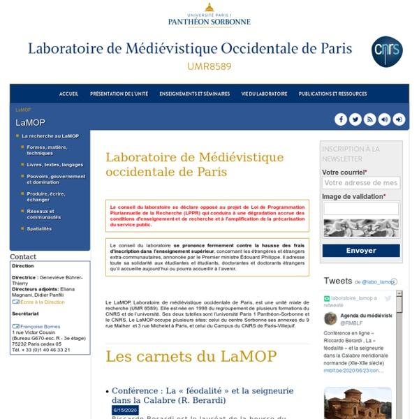 Laboratoire de Médiévistique Occidentale de Paris