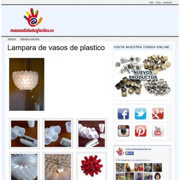 Lampara de vasos de plastico