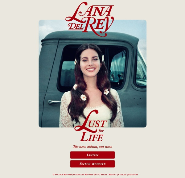 Lana del Rey Official website