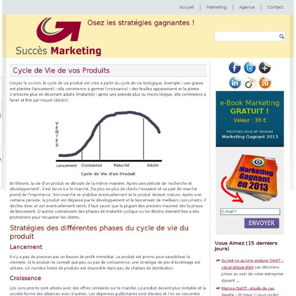 Cycle de vie produit: lancement, croissance, maturité & déclin produit