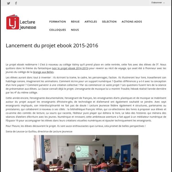 Lancement du projet ebook 2015-2016