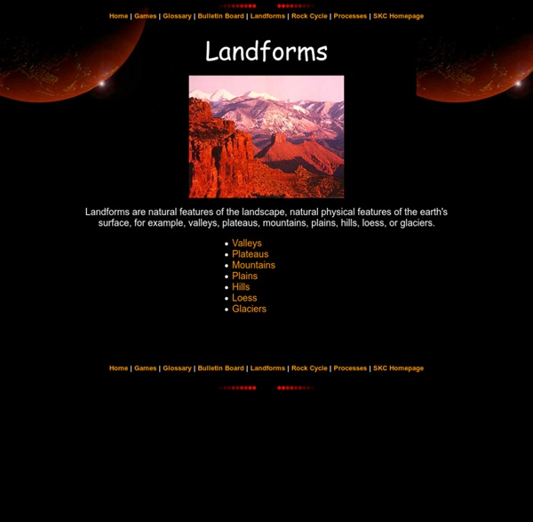 Landforms: Face of the Earth