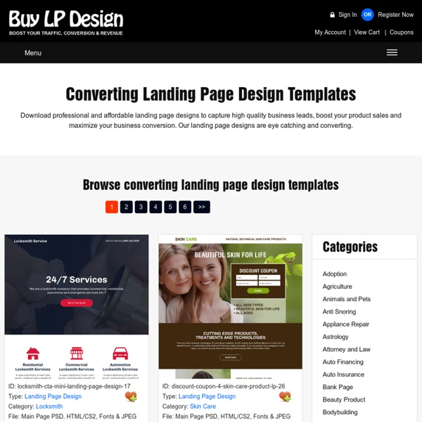 Effective landing page design for browse, purchase and download