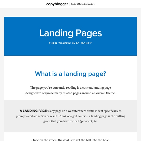Landing Page Tutorials and Software