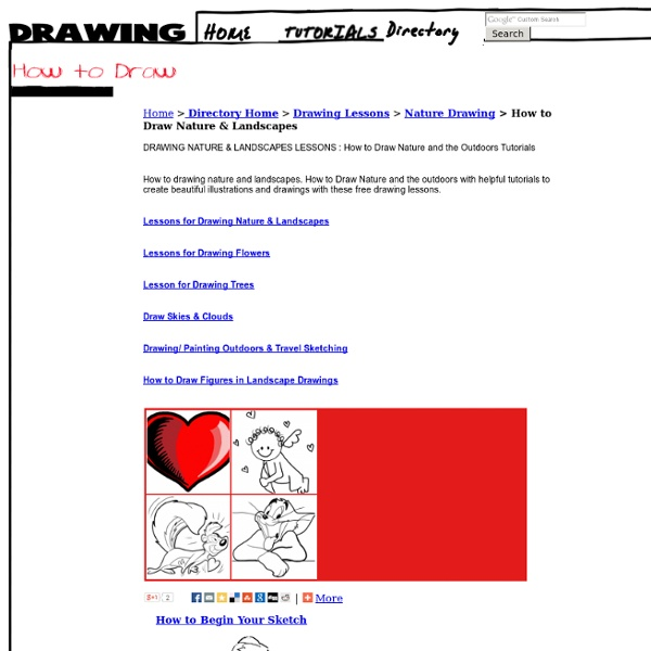 Drawing Nature and Landscapes : How to Draw Nature Outdoors with Drawing Lessons Step by Step Techniques for Cartoons