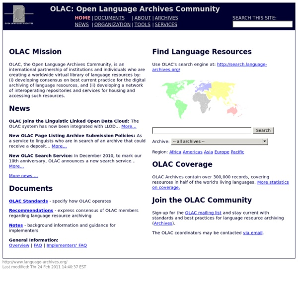 Open Language Archives Community